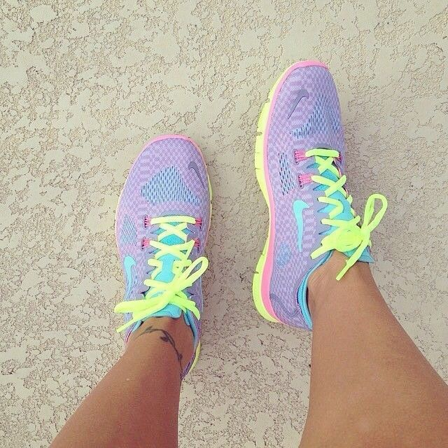 cute, exercise, neon and running