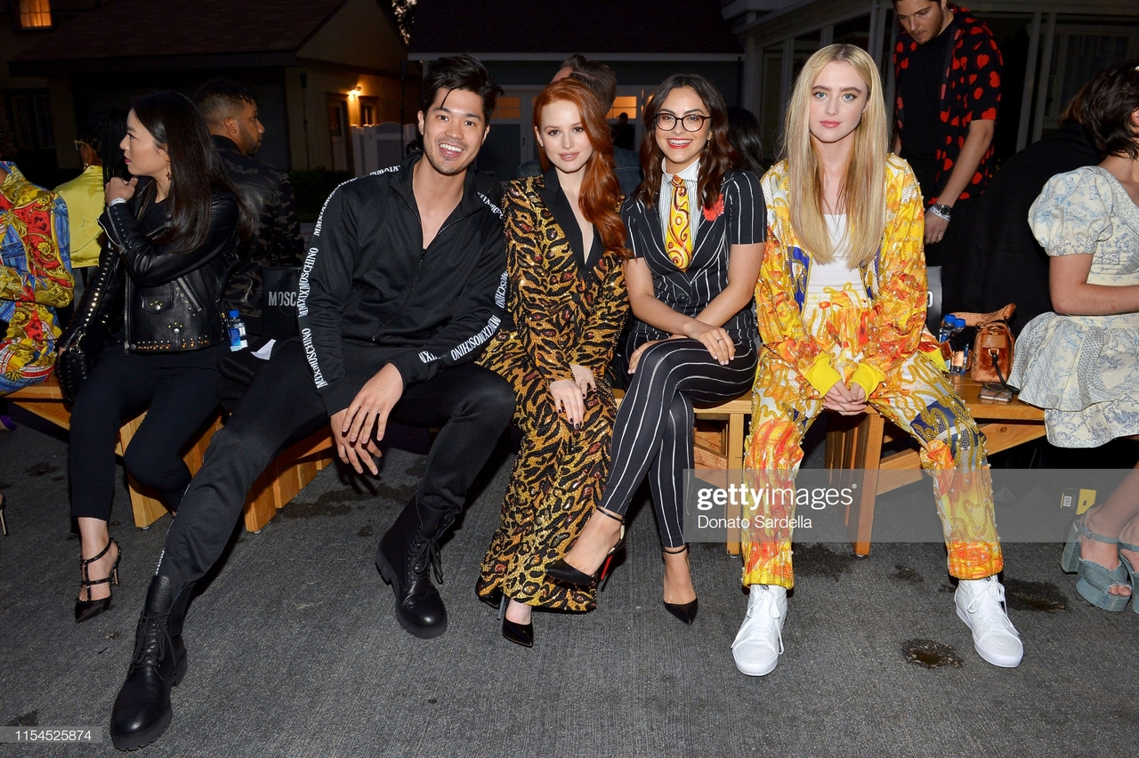 fashion show, Moschino, camila mendes and ross butler