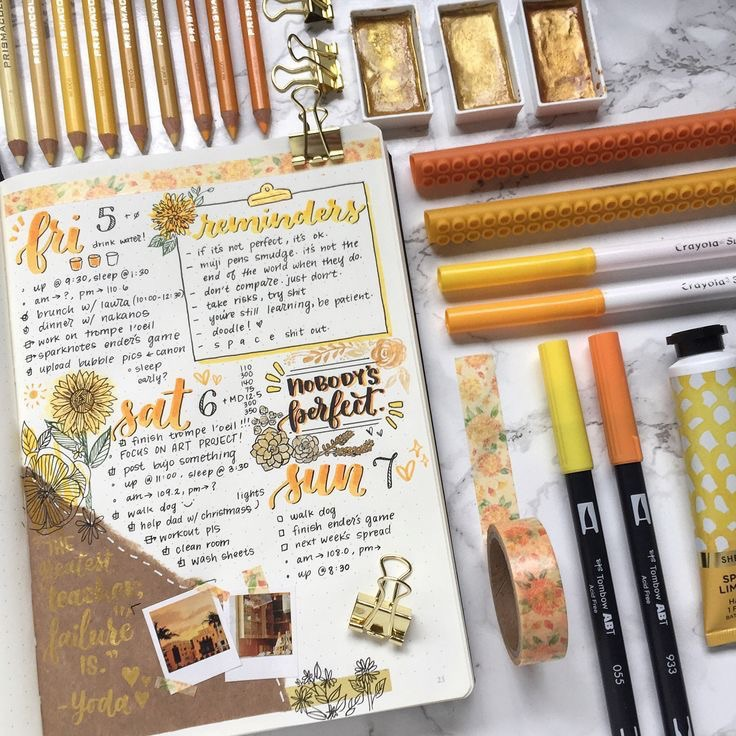 alternative, articles, bullet journal and color