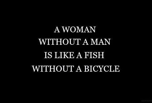 quotes, fish, bicycle and woman