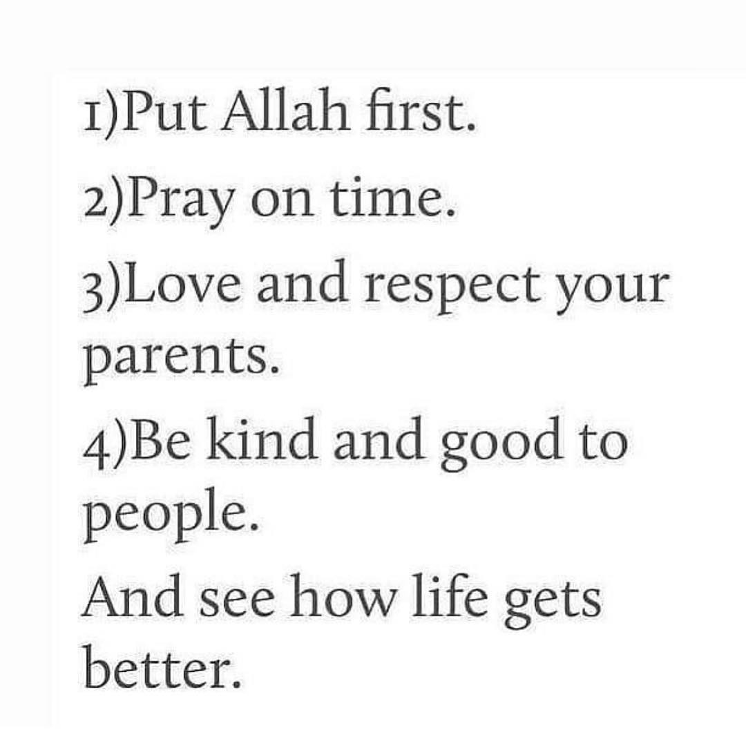 Iman, respect, pray and heart