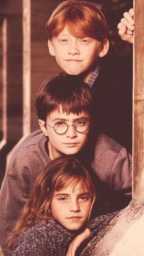 ron weasley, hermione granger, harry potter and wallpaper