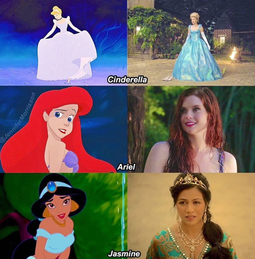 the little mermaid, jasmine, mermaid and once upon a time
