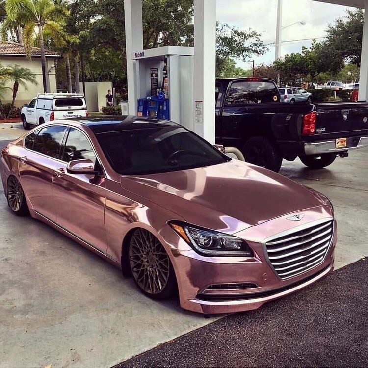 car, girly, luxury and pink