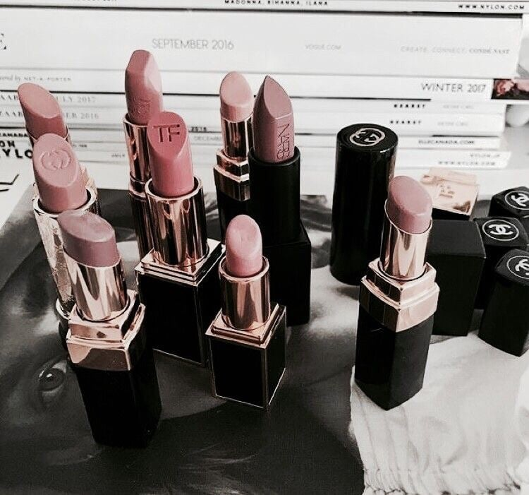aesthetic, beauty, lipstick and makeup