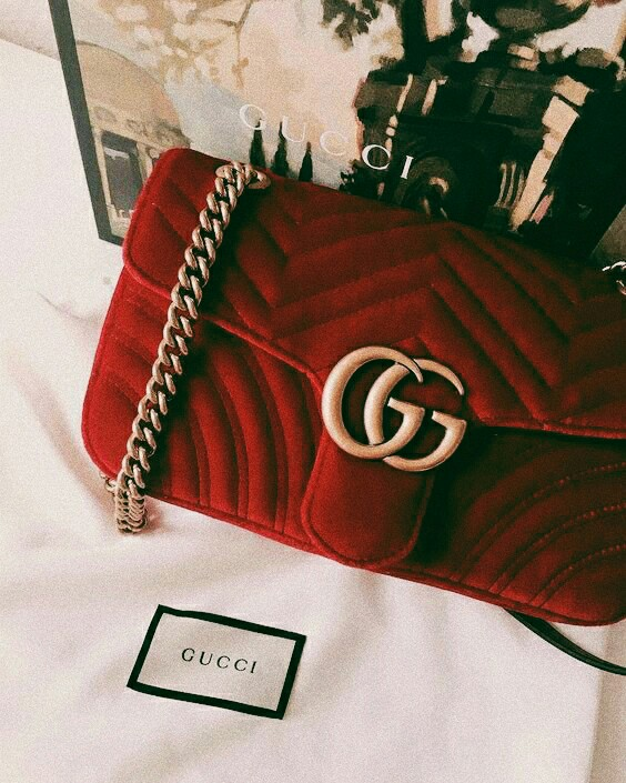 aesthetic, girls, gucci and red