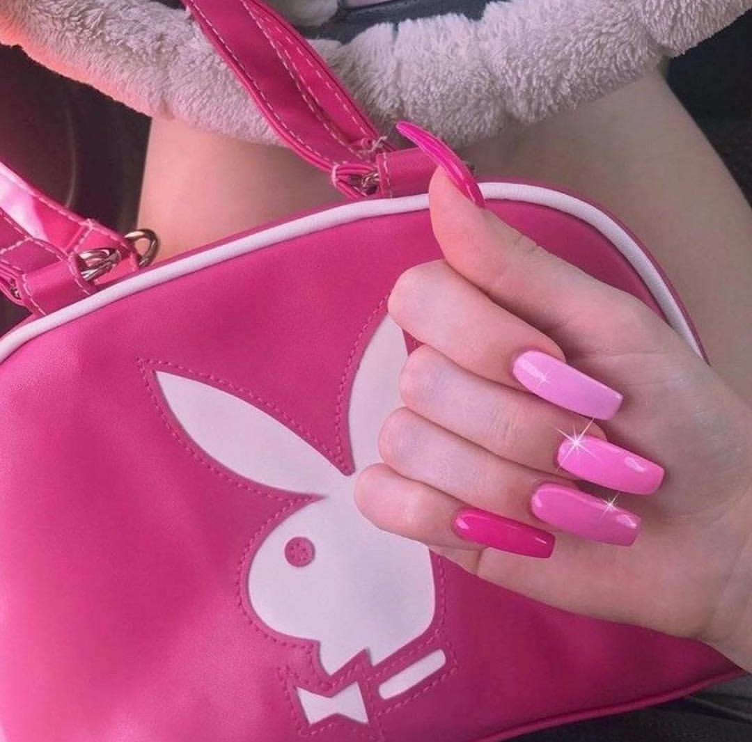 Playboy, bunny, nails and pastel