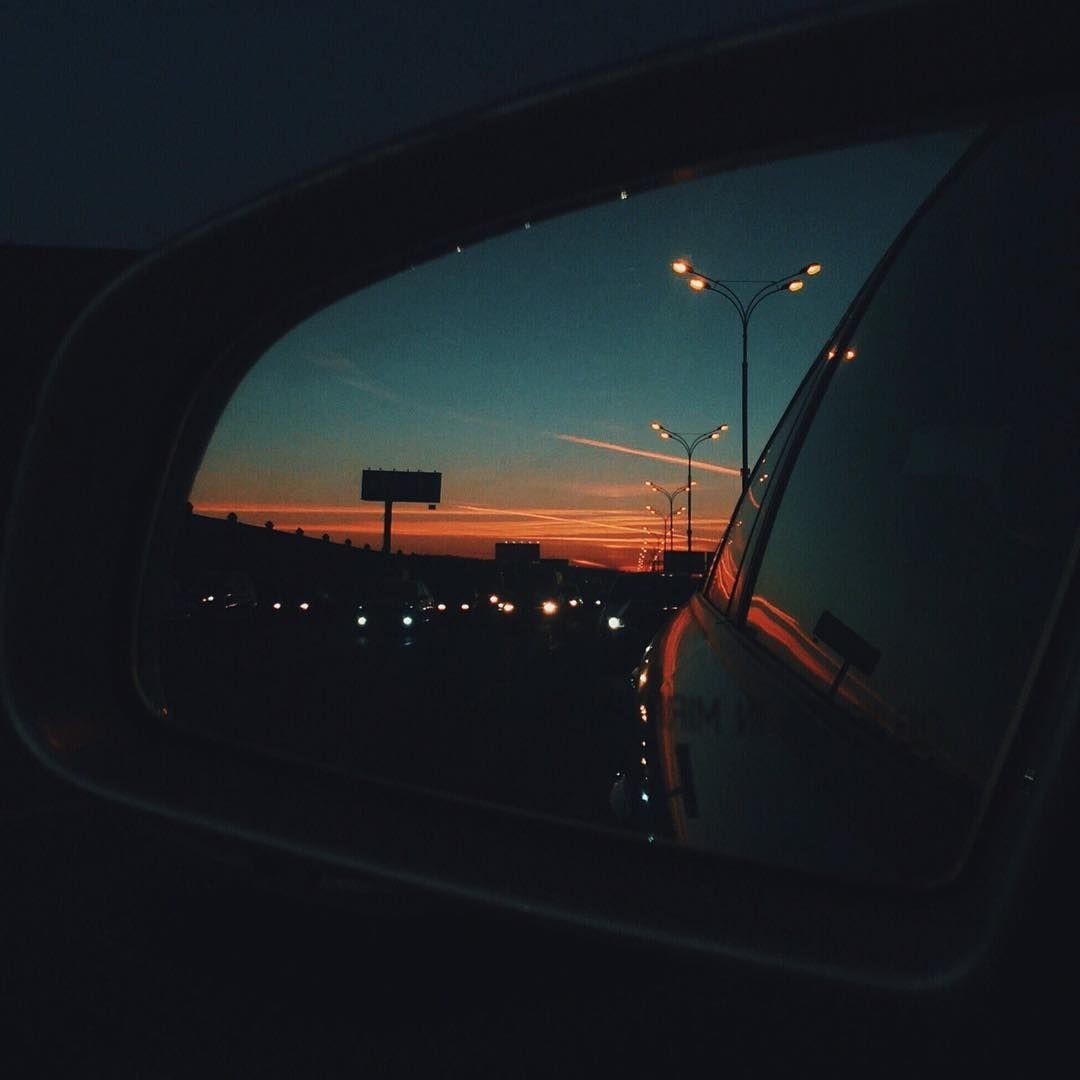 aesthetic, car, car drive and lights