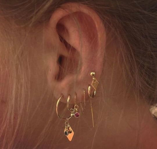 luxury, ear and rings