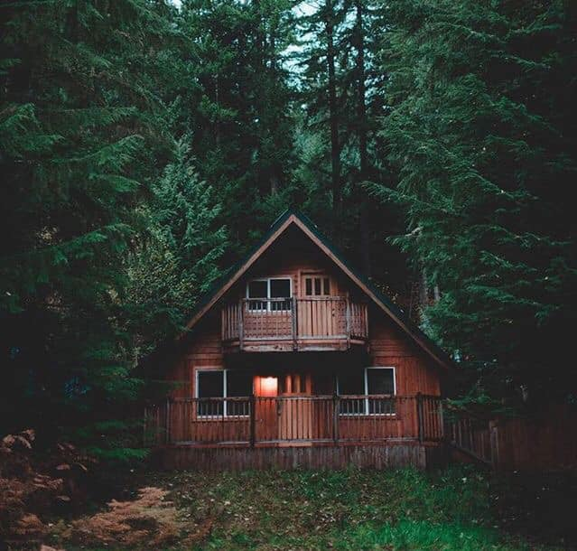 architecture, mountains, forest and cabin