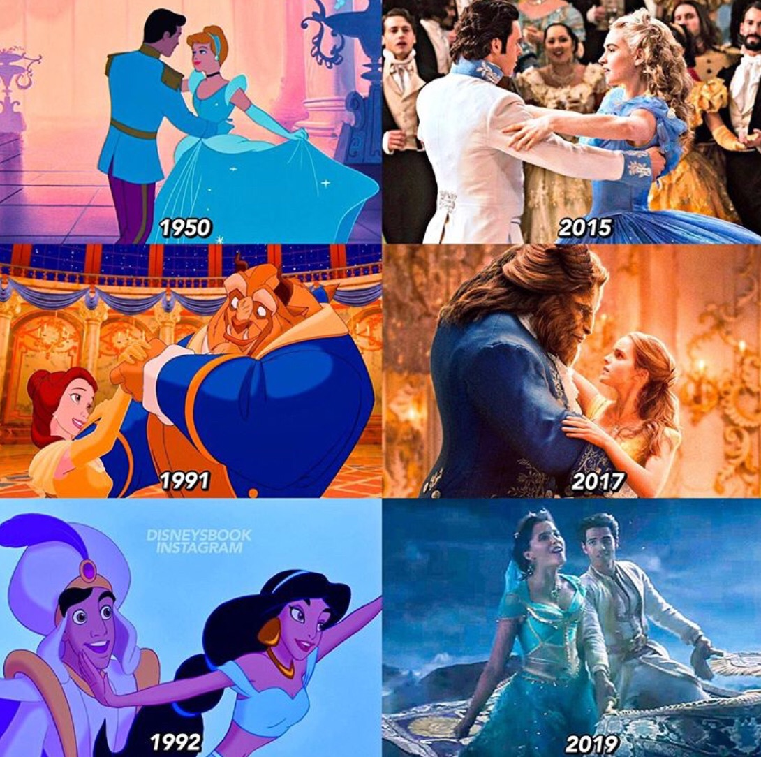 live action, couple, animation and princess