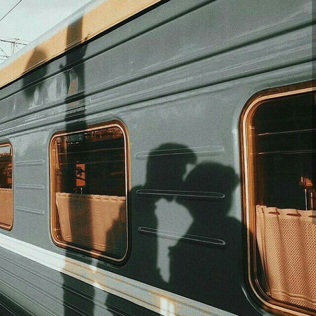 girl, boy, kiss and train