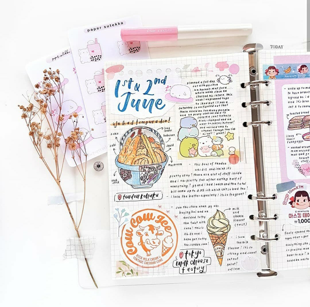 school, flower, bullet journal and notes