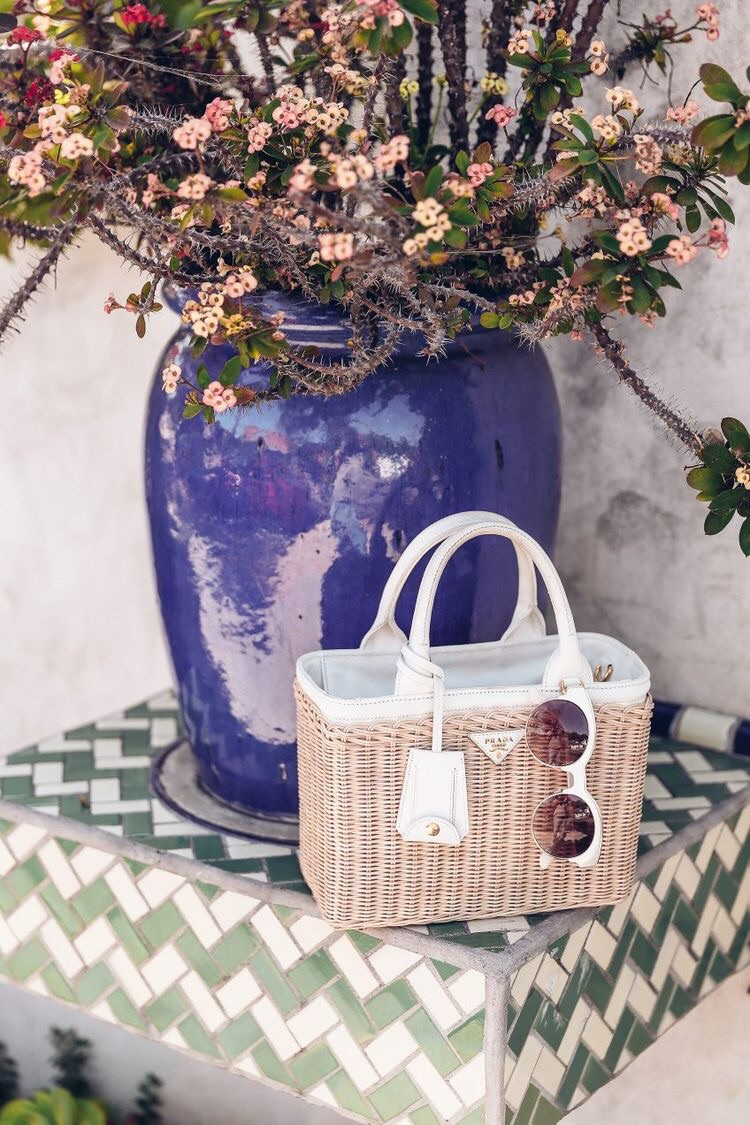 summer, luxury, style and basket bag