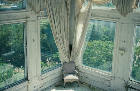chair, window, mansion and interior