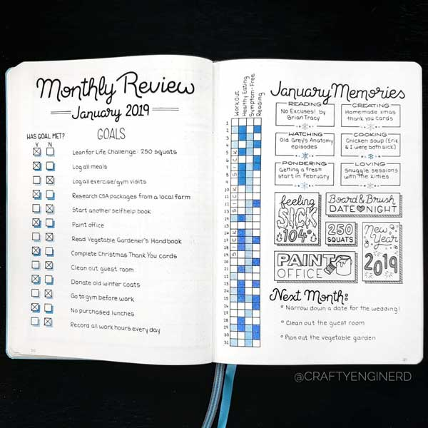 bujo, bullet journal, monthly and monthly log