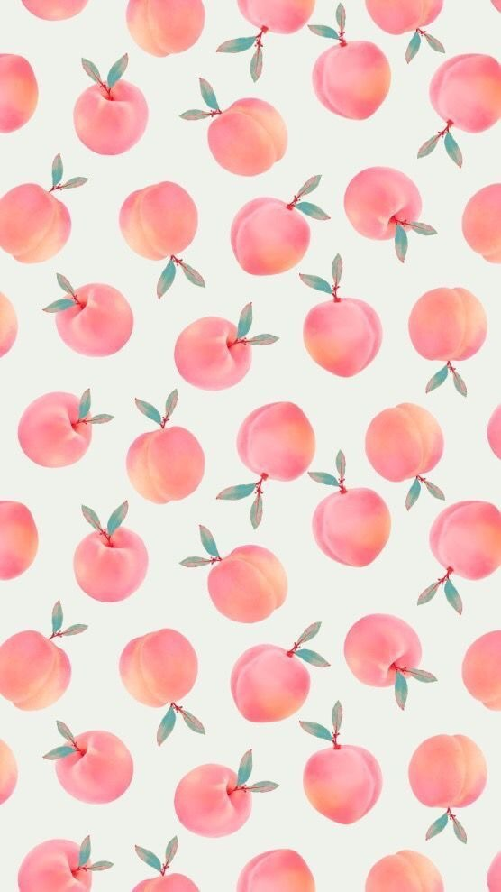 wallpaper, girly, peaches and cute