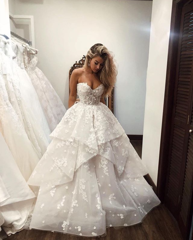 gown, bridal, wedding dress and bride