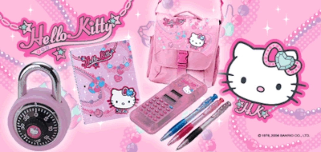 pink, y2k, 00s and stationery