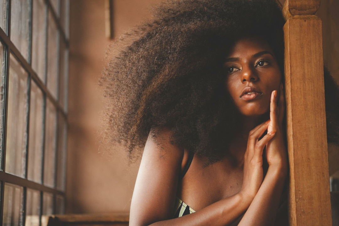 curly hair, afro hair, skin and black girls