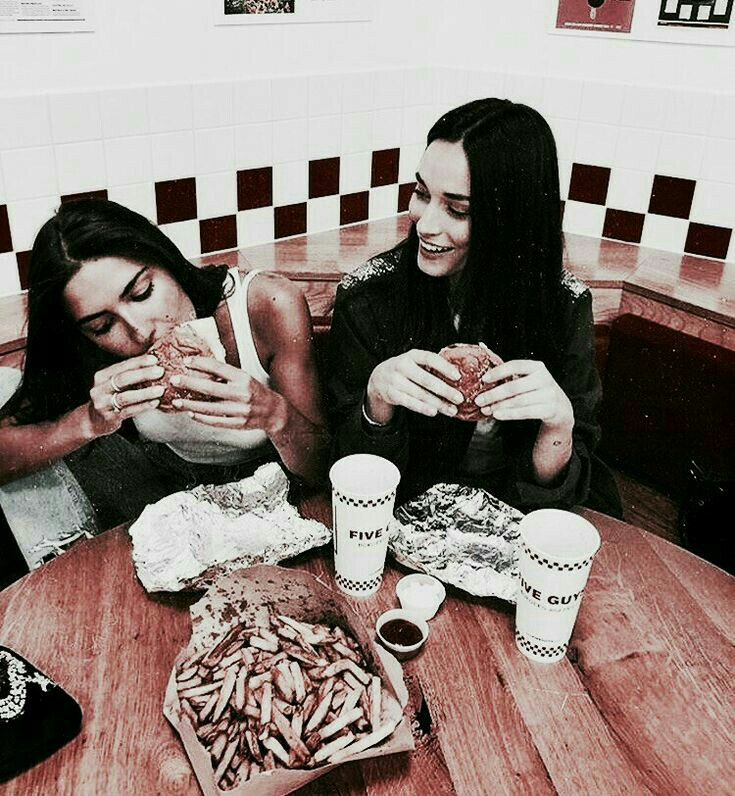 girls, drink, food and beautiful