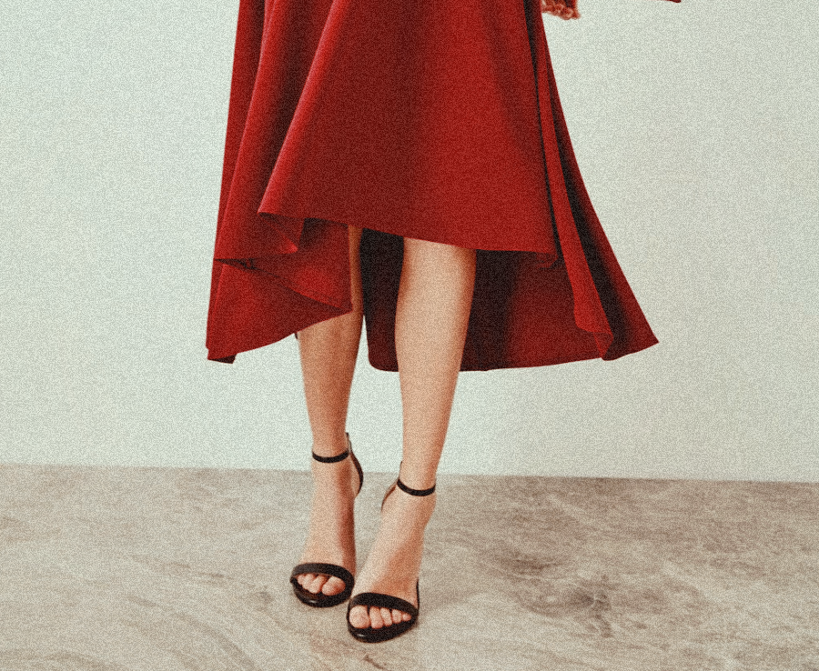 red, gryffindor, dress and heels
