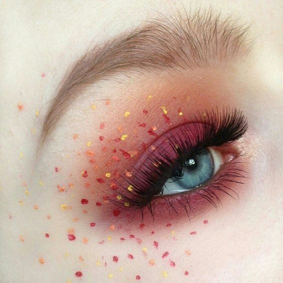 brow, red, orange and eye