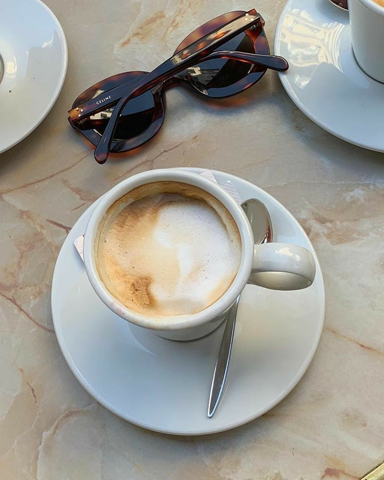 coffee shop, marble, parisian and breakfast