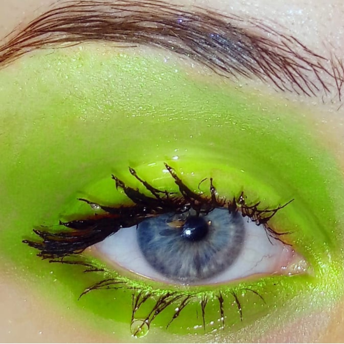 lashes, lime, green and eye