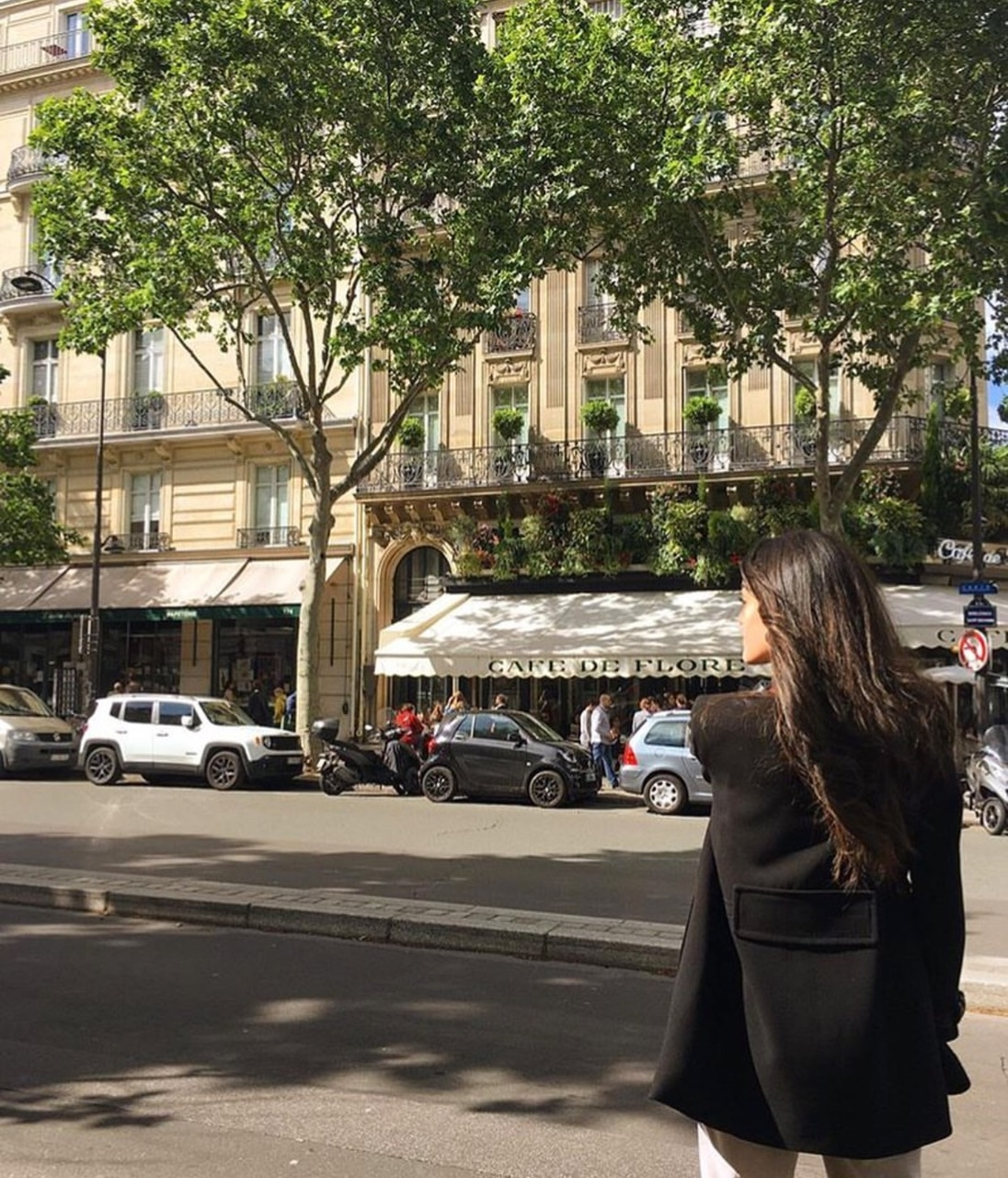 france, girl, cafe de flore and streetstyle