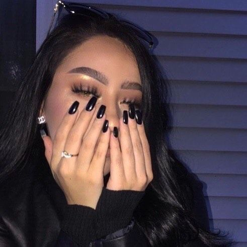 love, cute, black and nails