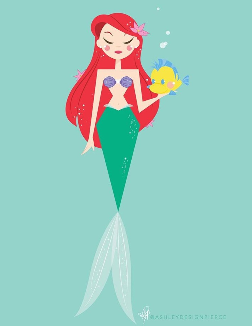 film, creativity, the little mermaid and drawing