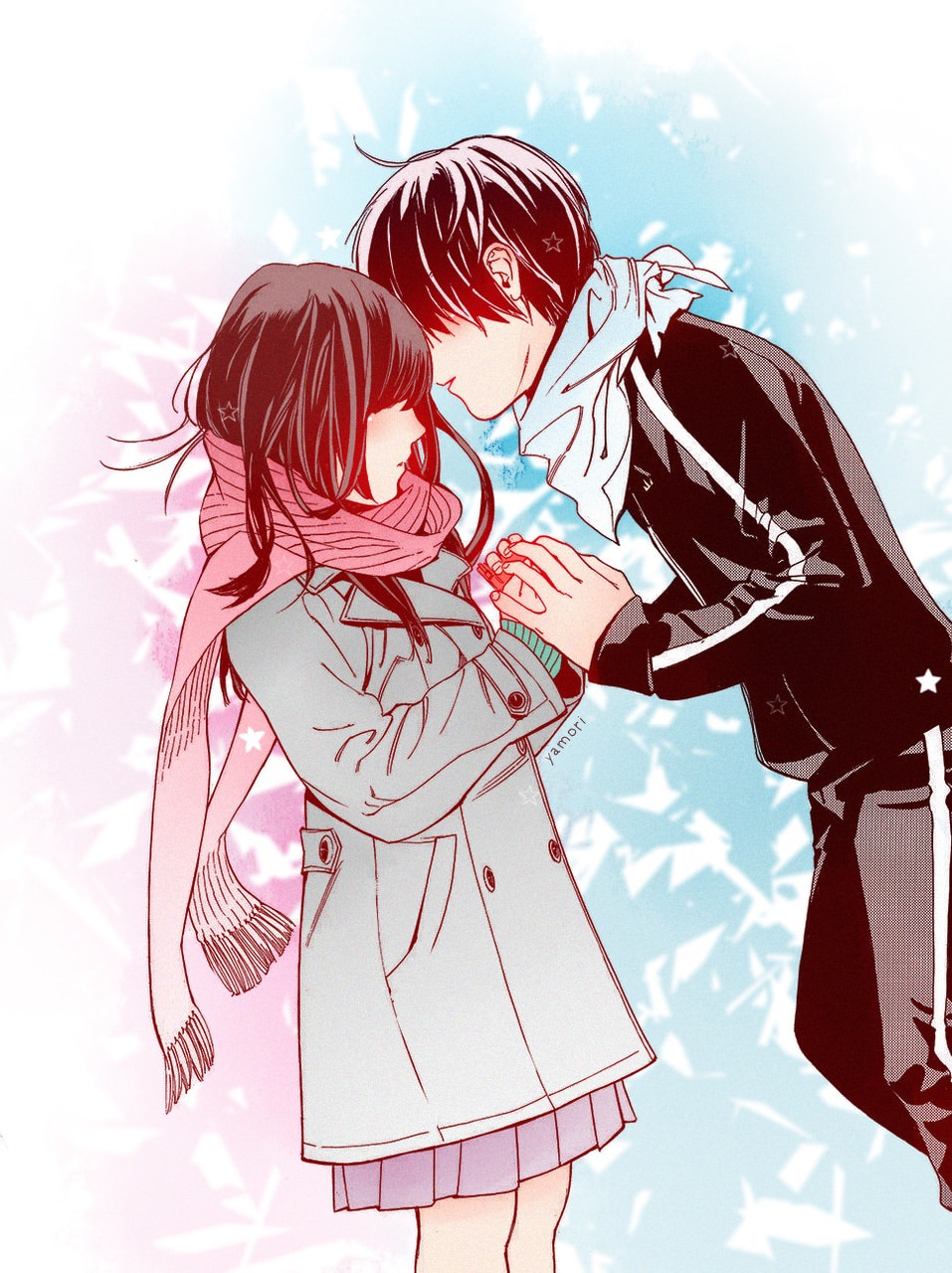 cute, noragami, love and couple