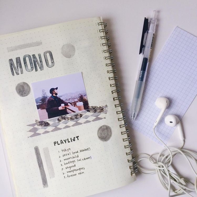 journal, kpop, rm and bts