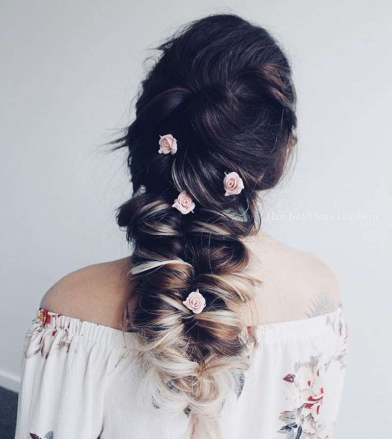 flowers, hairstyle, style and accessories