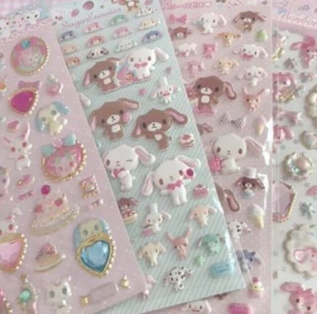 stickers, pastel, kawaii and babygirl