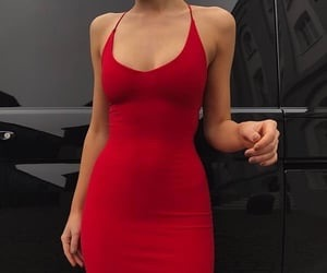 girl, fashion and red