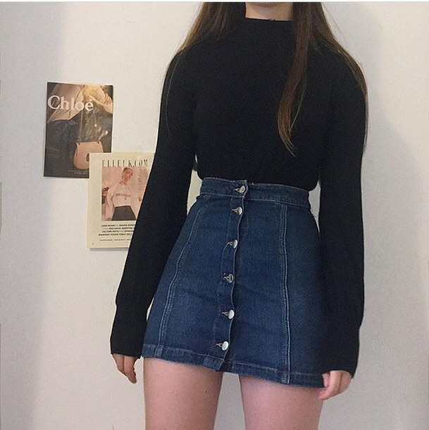 black, skirt, loved and fashion