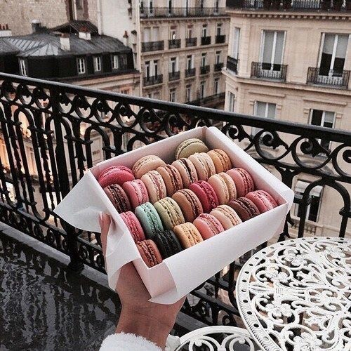 paris, colorful, ?macarons and white