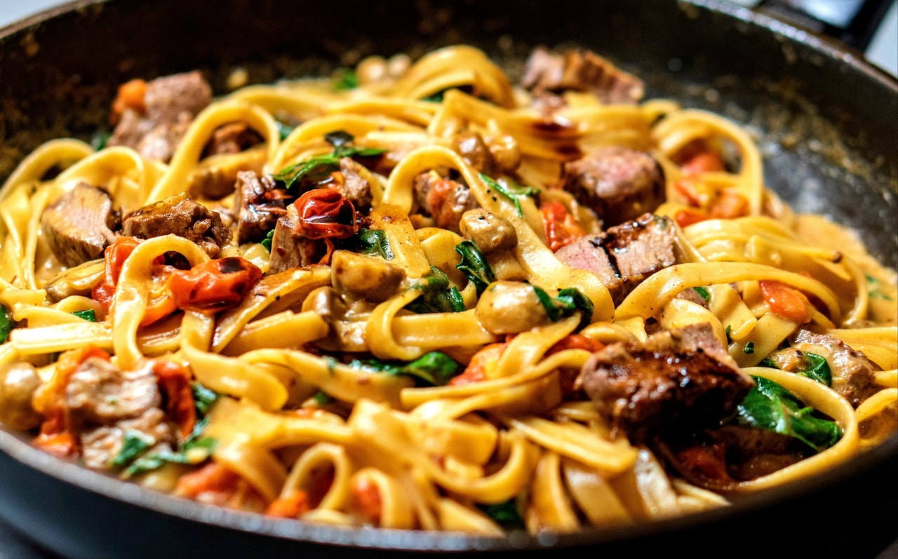 delicious, meat, food and pasta