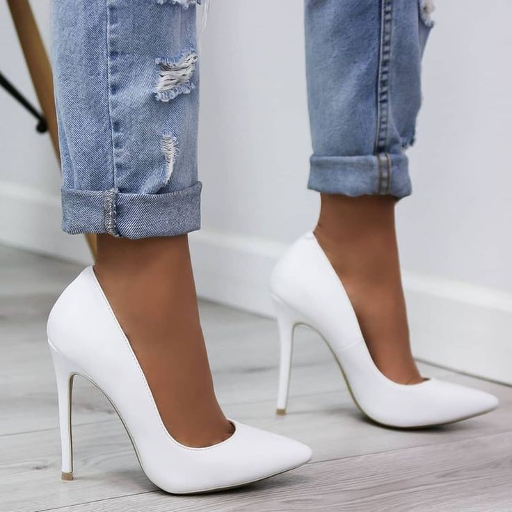 shoes, high heels, fashion and white