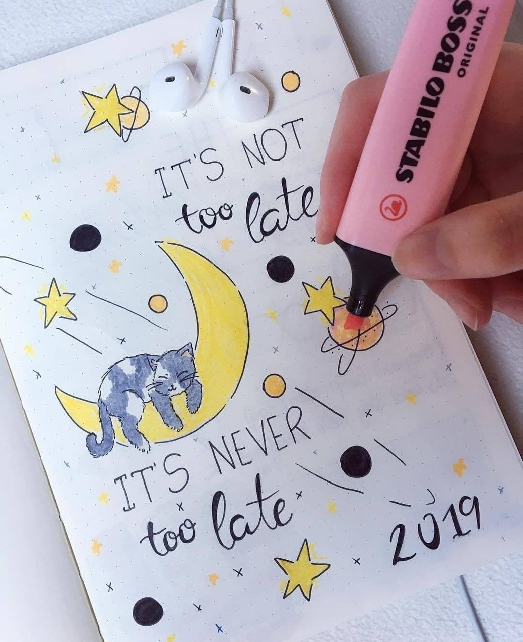 bullet journal, pastel, stabilo and bulletjournal