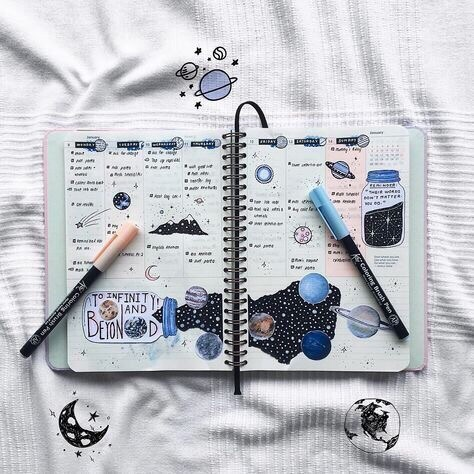 plans, stars, space and week