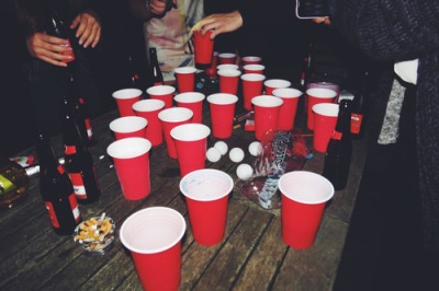 cups, beer, red and party