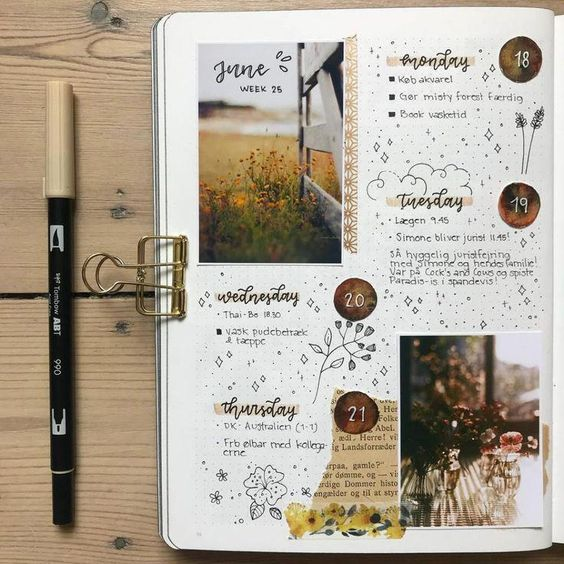 journaling, supplies, bullet journal and weekly spread
