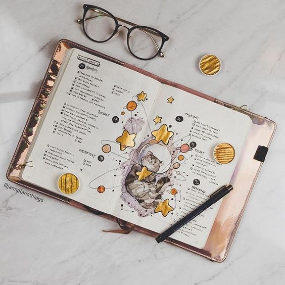 bullet journal, journaling, bujo and stationery