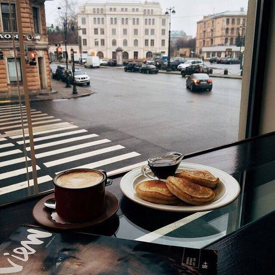 cozy, pancakes, morning and coffee