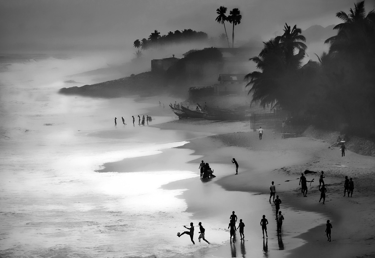 art, amazing, beach and black and white