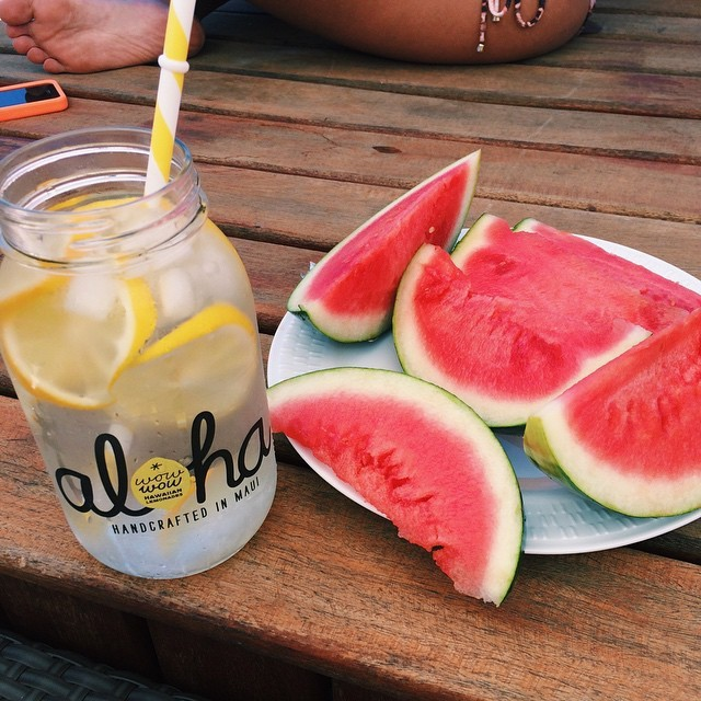 summer, water, beaches and watermelon