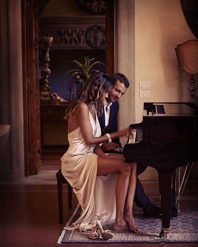 romance, Relationship, couple and piano